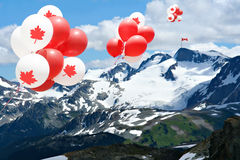 Canada day balloons stock images