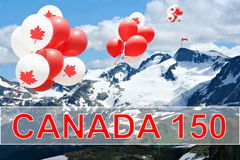 Canada day balloons stock photos