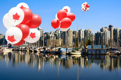 Canada Day Balloons in Vancouver stock photography