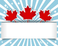 Canada Day banner. Royalty Free Stock Photo
