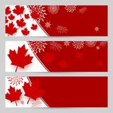 Canada day banner design with copy space. Vector illustration royalty free illustration
