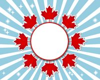 Canada Day banner. Stock Photo