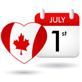 Canada day calendar Royalty Free Stock Photography