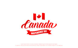 Canada Day. Canada 150 Years anniversary banner. Canada Independence Day.  Royalty Free Stock Photos