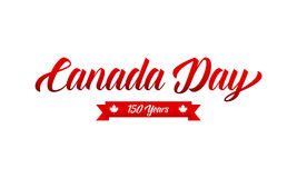 Canada Day. Canada 150 Years anniversary typography. Canadian holiday Stock Photos