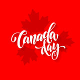 Canada Day card with maple leaf print pattern poster Royalty Free Stock Photography