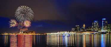 Canada Day celebration fireworks Royalty Free Stock Images