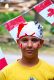 Canada Day Child. Young boy dressed up for Canada Day Royalty Free Stock Photos