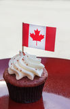 Canada day cupcake Stock Photography
