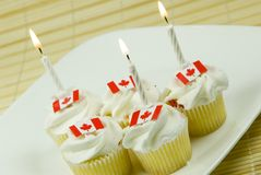 Canada Day cupcakes Royalty Free Stock Images