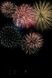 Canada Day Fireworks. Fireworks display on Canada Day celebration Royalty Free Stock Photo