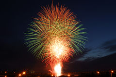 Canada day fireworks Stock Photography