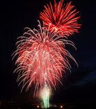 Canada day fireworks. Colorful fireworks on canada day (july 1st) in city edmonton, alberta, canada Stock Photos