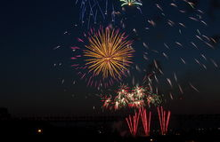 Canada Day Fireworks Stock Image