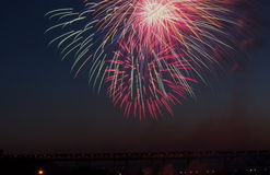 Canada Day Fireworks Royalty Free Stock Image