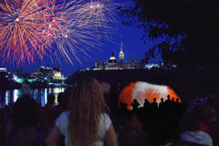 Canada Day Fireworks Ottawa 2012 Ontario Royalty Free Stock Images