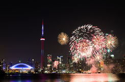 Canada Day Fireworks Royalty Free Stock Photography