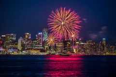 Canada Day Fireworks Vancouver Stock Photos