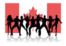 Canada Day Flag Party People Stock Photography