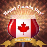 Canada Day goblet Royalty Free Stock Photos