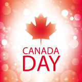 Canada day greeting card. Abstract flag background Royalty Free Stock Images