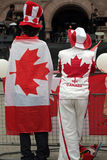 Canada Day Guys. Two Canada Day guys dressed up Stock Images