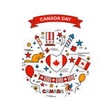 Canada Day. Happy Canada Day elements set Royalty Free Stock Photos