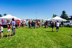 Canada Day Market in Courtenay, British Columbia Canada stock image
