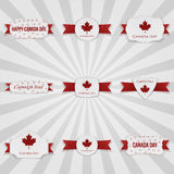 Canada Day national Badges Set Stock Image