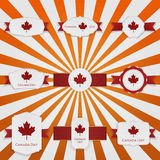 Canada Day national greeting Banners Set Stock Image