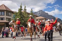 Canada Day Parade in Banff Royalty Free Stock Images