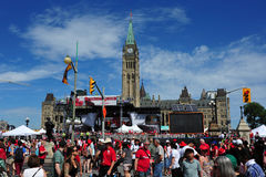 Canada Day on Parliament Hill Royalty Free Stock Photography