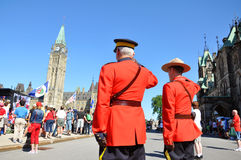 Canada Day RCMP solute Stock Photography