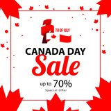 Canada Day Sale Up To 70 Vector Template Design Illustration Royalty Free Stock Image
