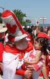 Canada Day Santa with Child Stock Photo