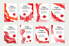 Canada Day set of templates for your design. Brochure, flyer, poster. Isolated on white background. Vector illustration. Canada Day set of templates for your Royalty Free Stock Images