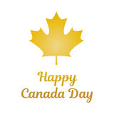 Canada Day. Vector illustration. Canada Day. Gold leaf and a congratulatory inscription. Country Symbol. Vector illustration. Perfectly suitable for decoration Royalty Free Stock Photography