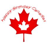 Canada Day Vector Illustration. Happy Canada Day Holiday Invitation Design. Red Leaf Isolated on a white background. Greeting card. Vector illustration. Happy stock illustration
