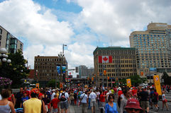 Canada Day in Wellington Street Stock Image