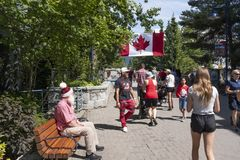 Canada Day at Whistler Village royalty free stock image