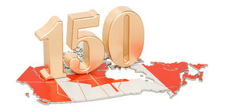 Canada Day, 150 years anniversary concept. 3D rendering Royalty Free Stock Photos
