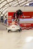 Canada 2014 de Calgary de coupe du monde de bobsleigh Photos stock