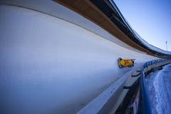 Canada 2014 de Calgary de coupe du monde de bobsleigh Photos libres de droits
