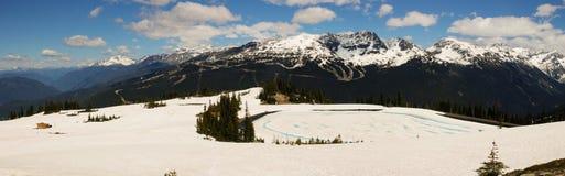 Canada de Colombie-Britannique de Whistler, photographie de panorama montrant la belle gamme de montagne Image libre de droits