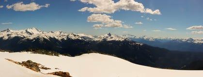 Canada de Colombie-Britannique de Whistler, photographie de panorama montrant la belle gamme de montagne Image stock