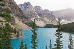 Canada de montagnes rocheuses de lac moraine Images stock