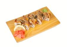 Canada de petits pains de sushi d'isolement sur le blanc Photos libres de droits