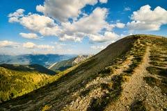 Canada de sentier de randonnée de montagne Photographie stock