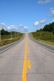 Canada, de weg nummer 169 Stock Foto