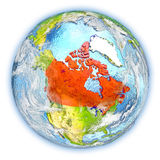 Canada on Earth isolated Stock Images